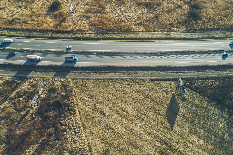 PHOTO SEBASTIAN DUDEK LoveKraków.pl  Kraków  DRON autostrada tyniecki wezel a4   2017-03-16